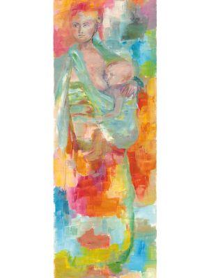 Mutter mit Kind gemalt von Ekaterini Paschalidou